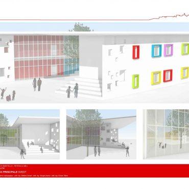 """Ristrutturazione mediante demolizione e ricostruzione ed ampliamento dell'edificio scolastico –  scuola secondaria di primo grado """"Marco Martello"""